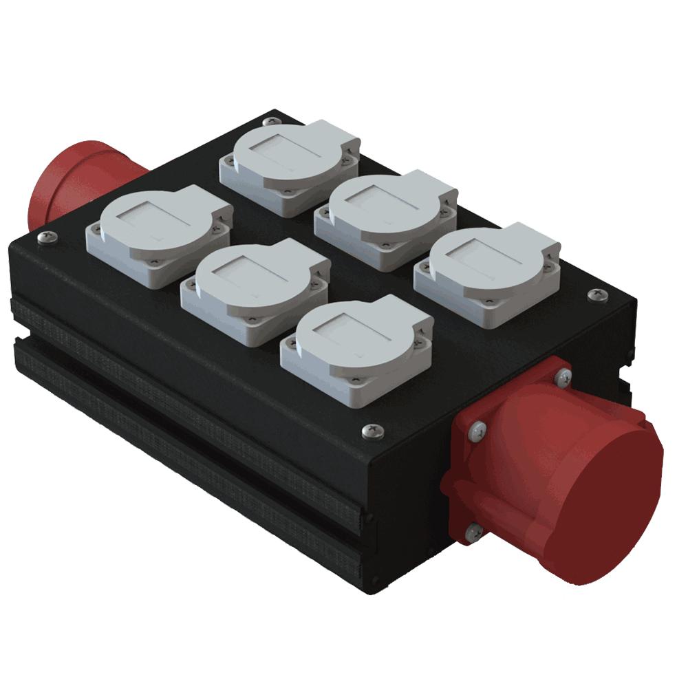 Дистрибьютер силовой 32A 380V