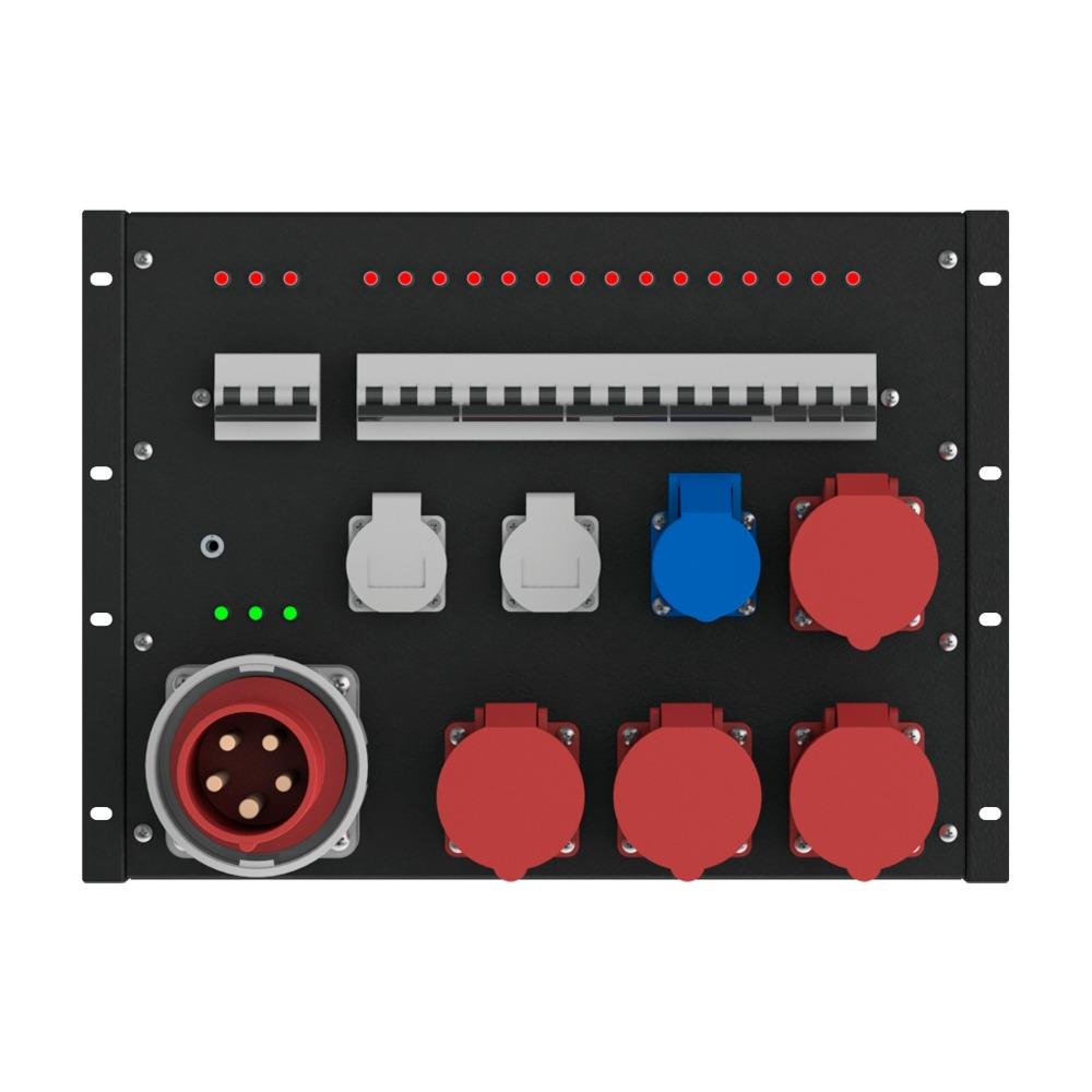 Дистрибьютер силовой 63A 380V